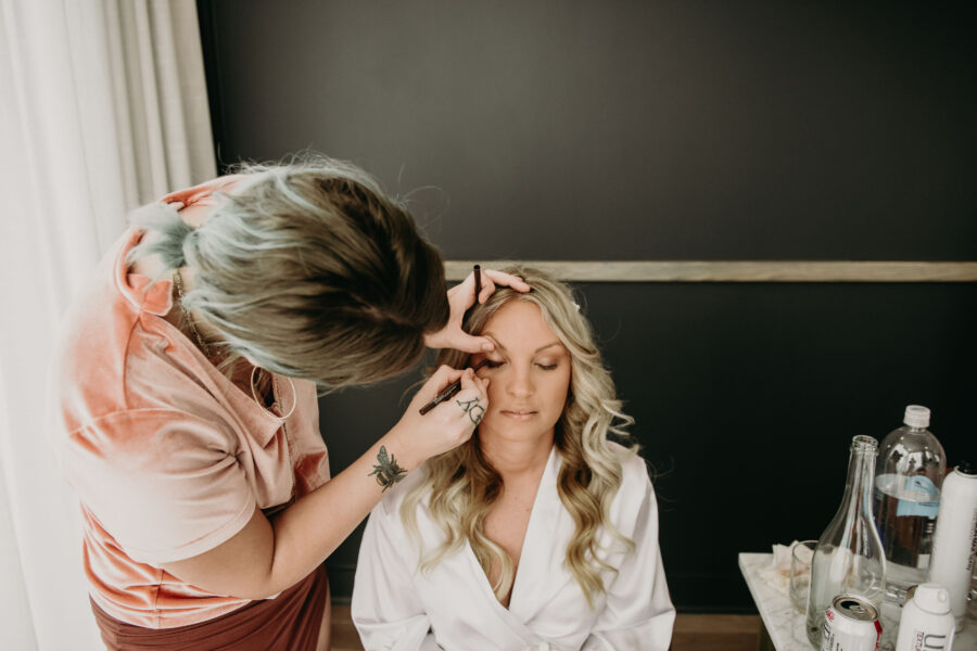 Wedding hair and makeup: Summer Tennessee Wedding at Noelle from Jayde J. Smith Events featured on Nashville Bride Guide
