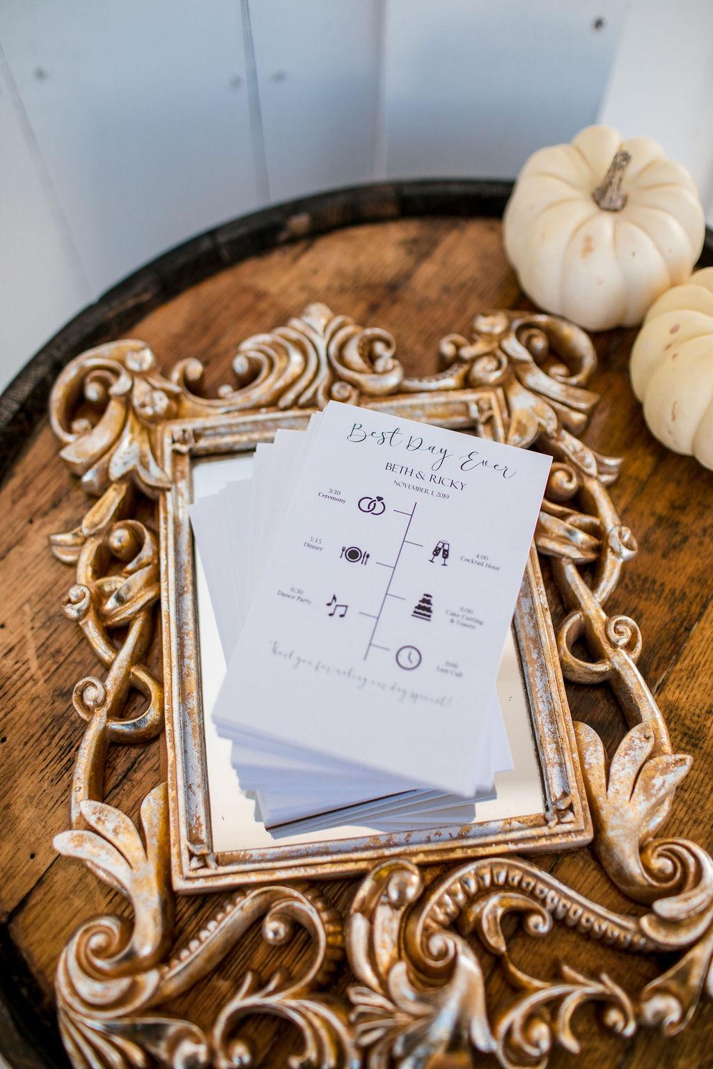 Wedding program ideas: Intimate Barn Wedding from John Myers Photography