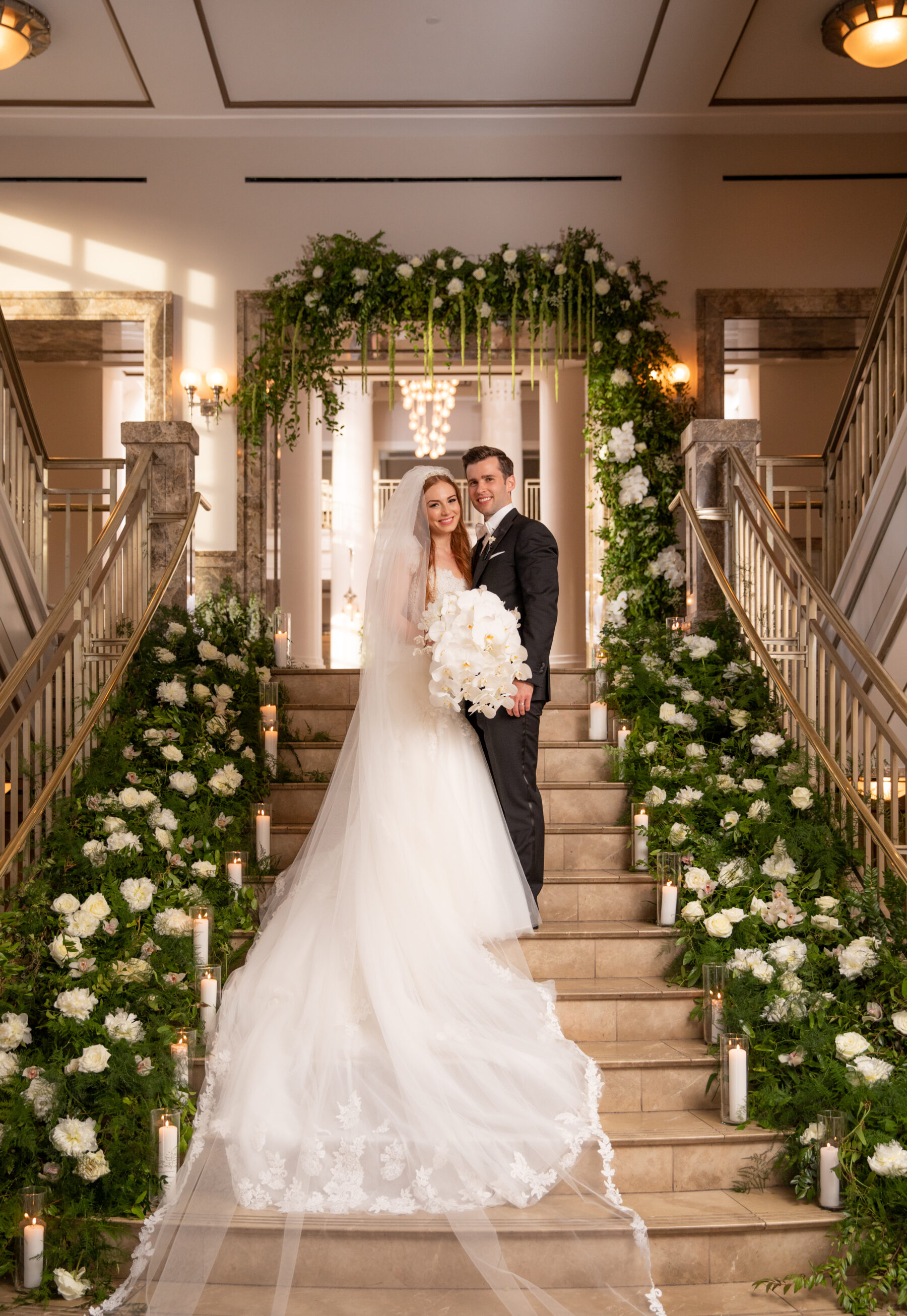 Portrait by Matt Andrews: Floral Filled Luxurious Wedding by LMA Designs featured on Nashville Bride Guide