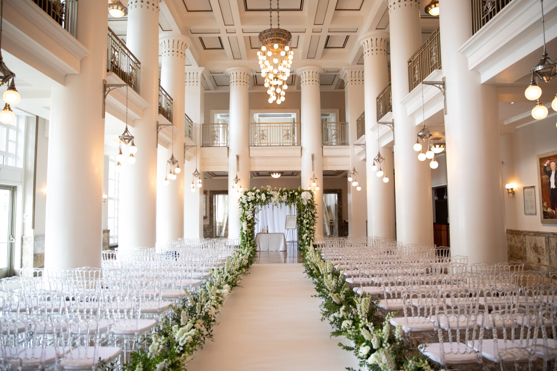 Floral lined wedding ceremony decor: Floral Filled Luxurious Wedding by LMA Designs featured on Nashville Bride Guide