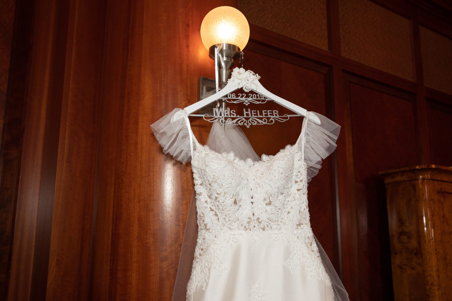 Wedding dress detail: Floral Filled Luxurious Wedding by LMA Designs featured on Nashville Bride Guide
