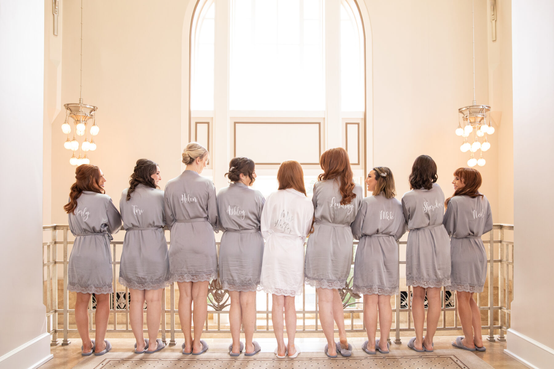 Bridal party robes: Floral Filled Luxurious Wedding by LMA Designs featured on Nashville Bride Guide