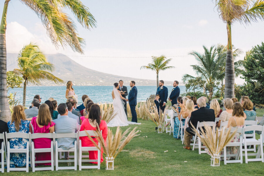 Outdoor Caribbean wedding ceremony: Intimate Caribbean Wedding by Details Nashville