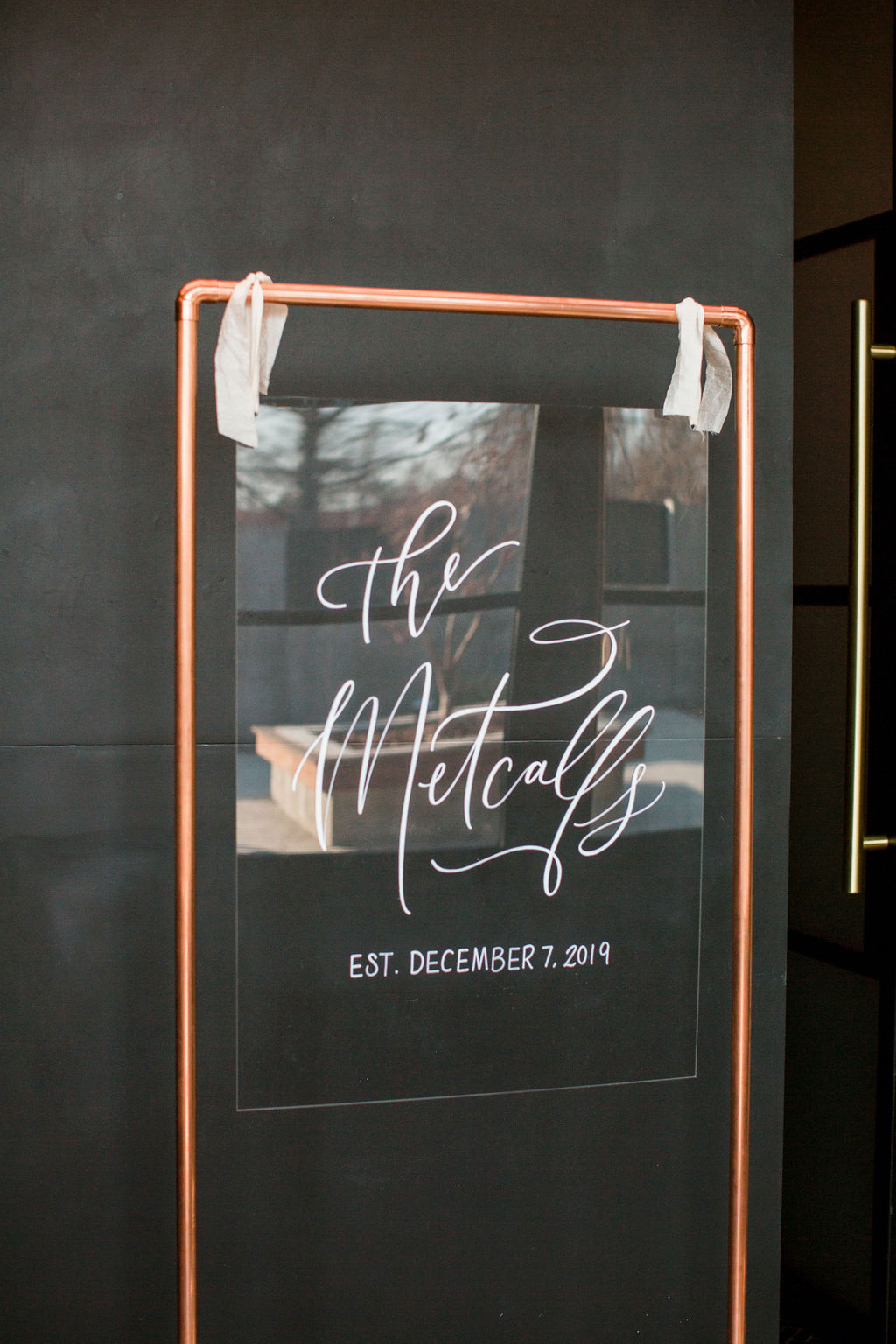 Acrylic wedding sign: Burgundy and Navy Wedding at Clementine Hall