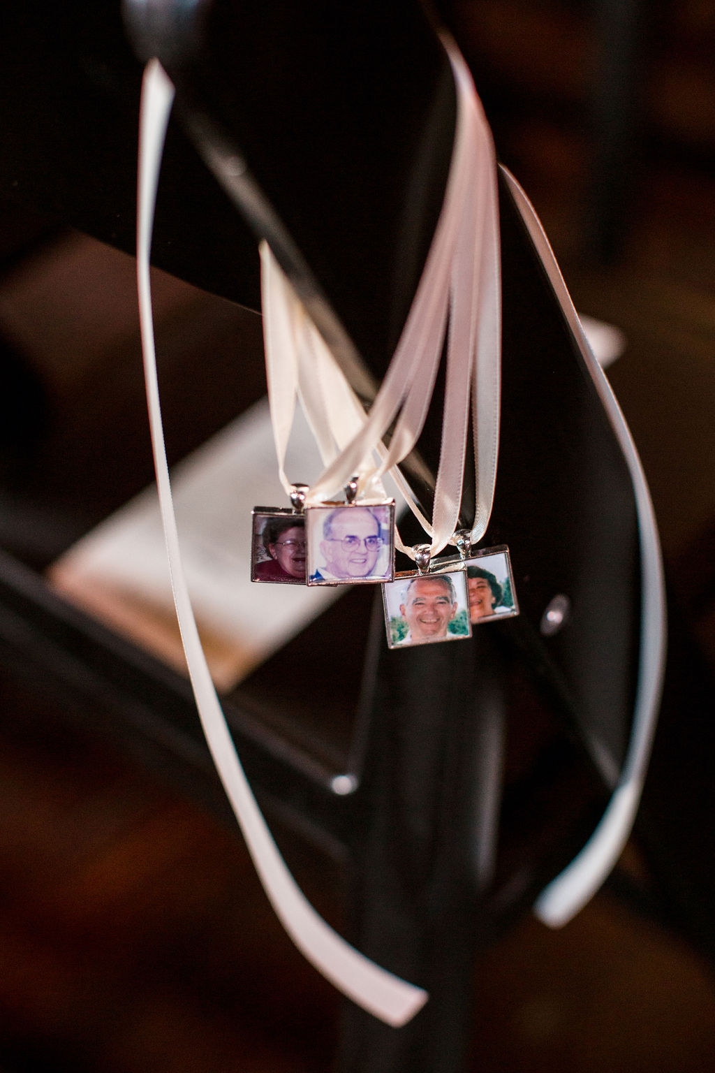 In loving memory wedding ceremony decor: Burgundy and Navy Wedding at Clementine Hall
