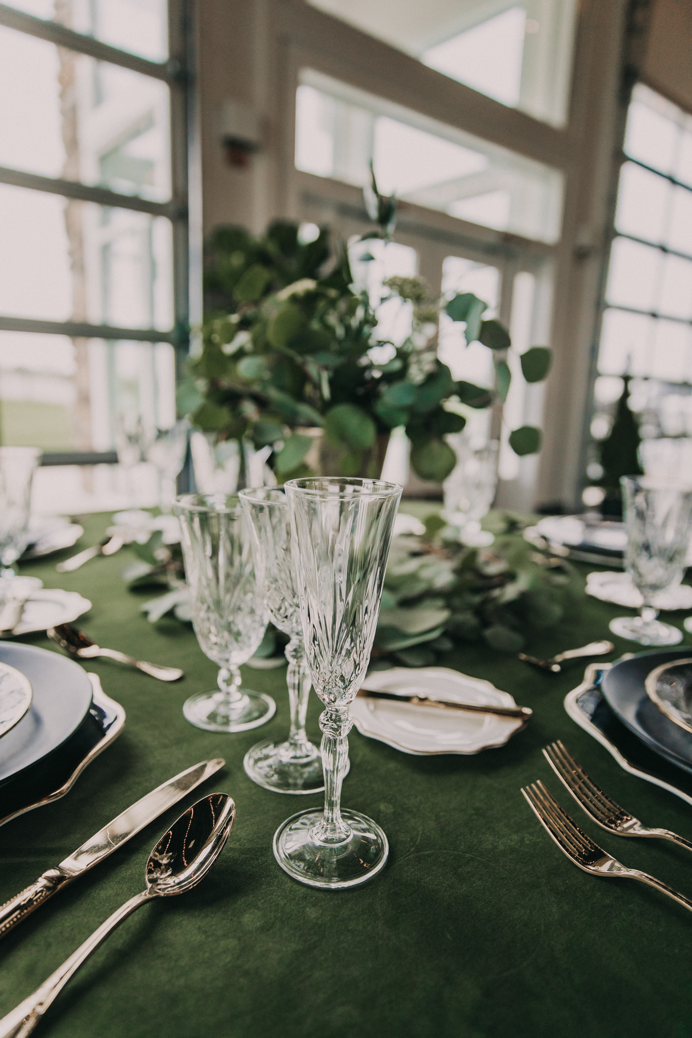 Wedding table decor: Shades of Green Legacy Styled Shoot by Music City Events and Billie-Shaye Style featured on Nashville Bride Guide