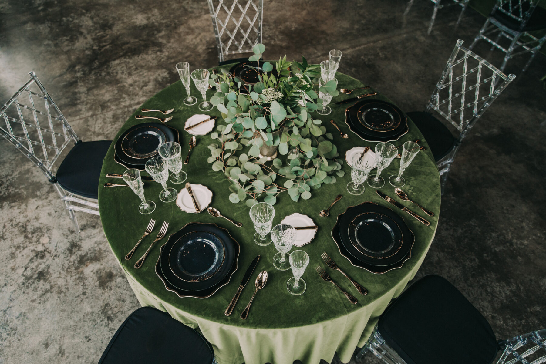 Wedding tablescape: Shades of Green Legacy Styled Shoot by Music City Events and Billie-Shaye Style featured on Nashville Bride Guide