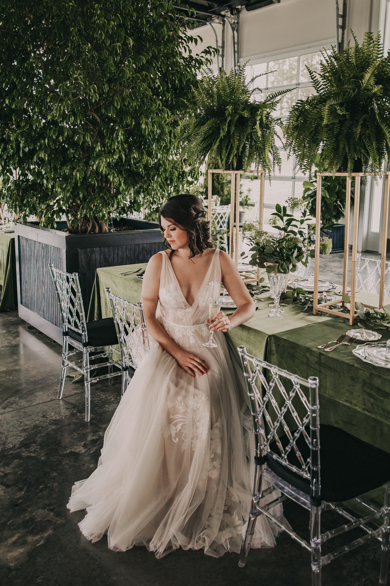 Lavender Park Bridal Gown: Shades of Green Legacy Styled Shoot by Music City Events and Billie-Shaye Style featured on Nashville Bride Guide