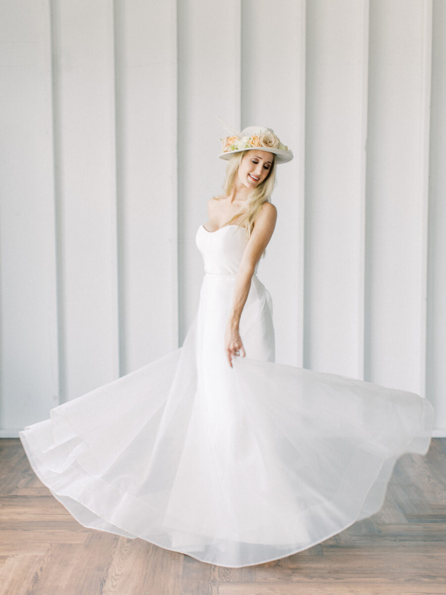 Sweetheart neckline wedding gown: Clean & Modern Styled Shoot at 14TENN featured on Nashville Bride Guide