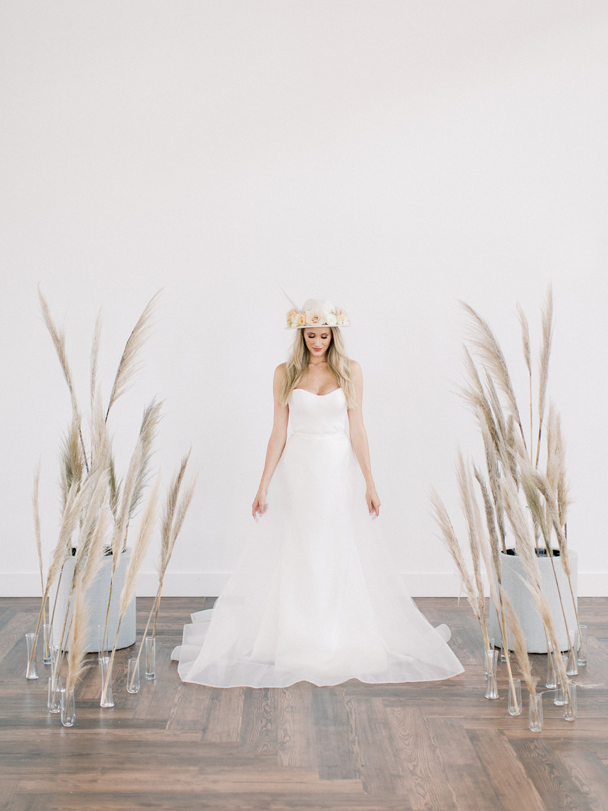 A-line wedding dress: Clean & Modern Styled Shoot at 14TENN featured on Nashville Bride Guide