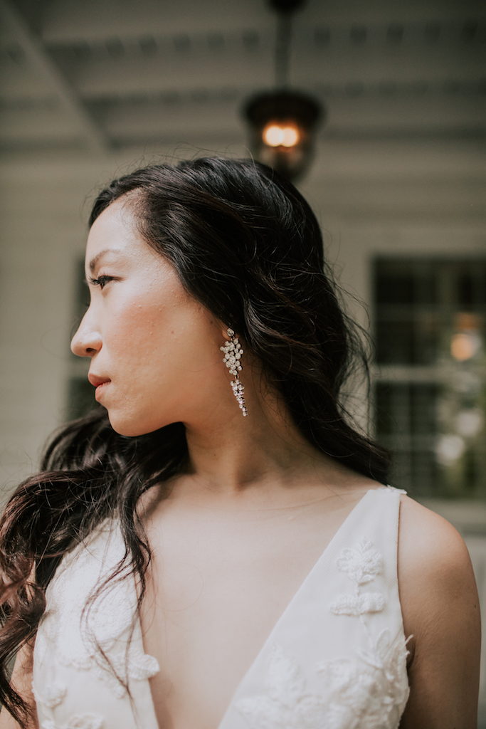 Wedding earrings: Summer Soiree at Cedarwood Weddings featured on Nashville Bride Guide