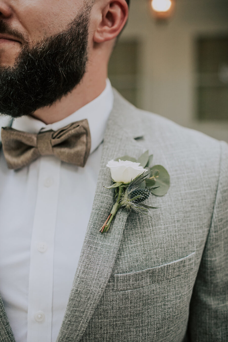 Wedding boutonniere: Summer Soiree at Cedarwood Weddings featured on Nashville Bride Guide