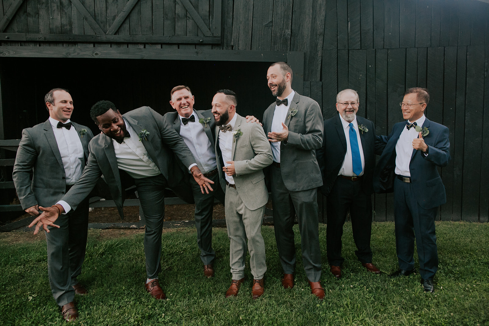 Groom and groomsmen: Summer Soiree at Cedarwood Weddings featured on Nashville Bride Guide