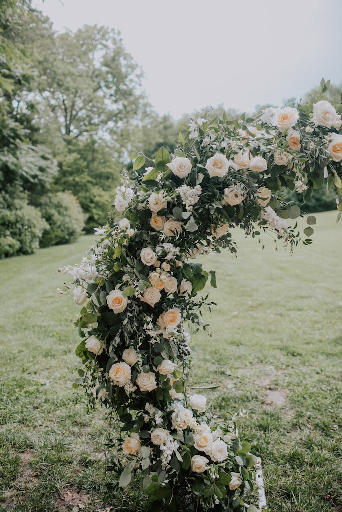 Wedding flower arch: Summer Soiree at Cedarwood Weddings featured on Nashville Bride Guide