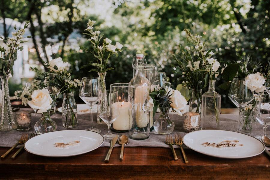 Wedding tabletop decor: Summer Soiree at Cedarwood Weddings featured on Nashville Bride Guide