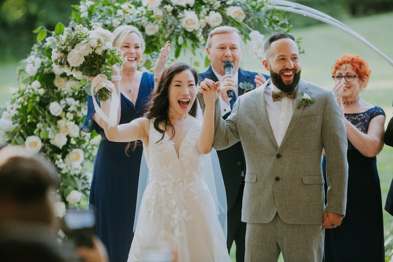Wedding ceremony photography: Summer Soiree at Cedarwood Weddings featured on Nashville Bride Guide