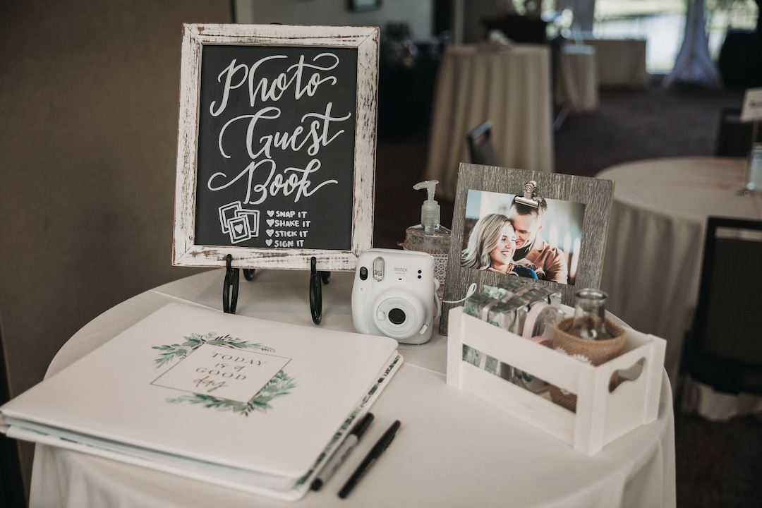 Wedding guestbook table: Romantic Country Club Soiree by Juniper Weddings featured on Nashville Bride Guide