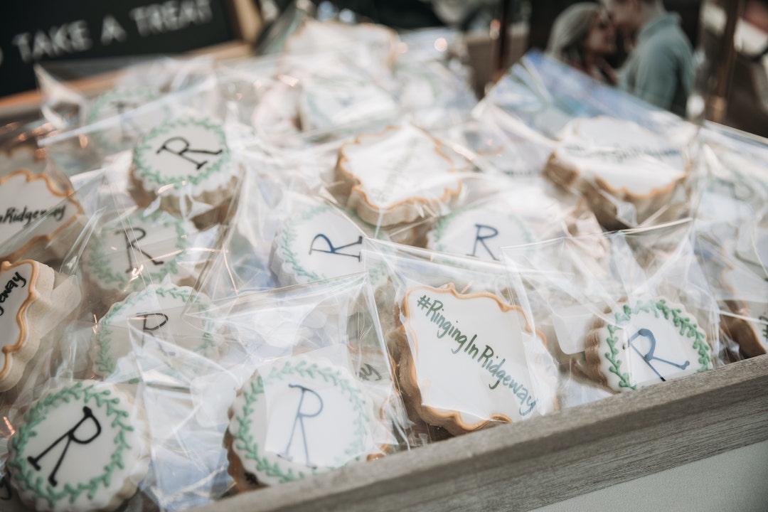 Custom wedding cookies: Romantic Country Club Soiree by Juniper Weddings featured on Nashville Bride Guide
