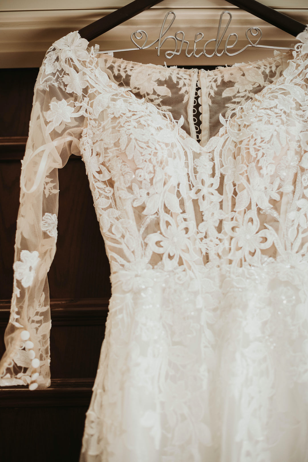 Wedding dress detail: Romantic Country Club Soiree by Juniper Weddings featured on Nashville Bride Guide
