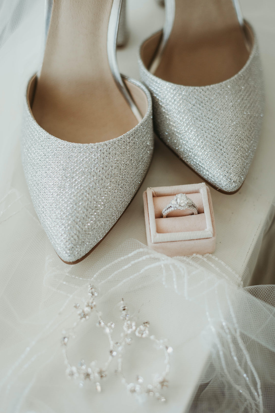 Sparkling wedding shoes: Romantic Country Club Soiree by Juniper Weddings featured on Nashville Bride Guide