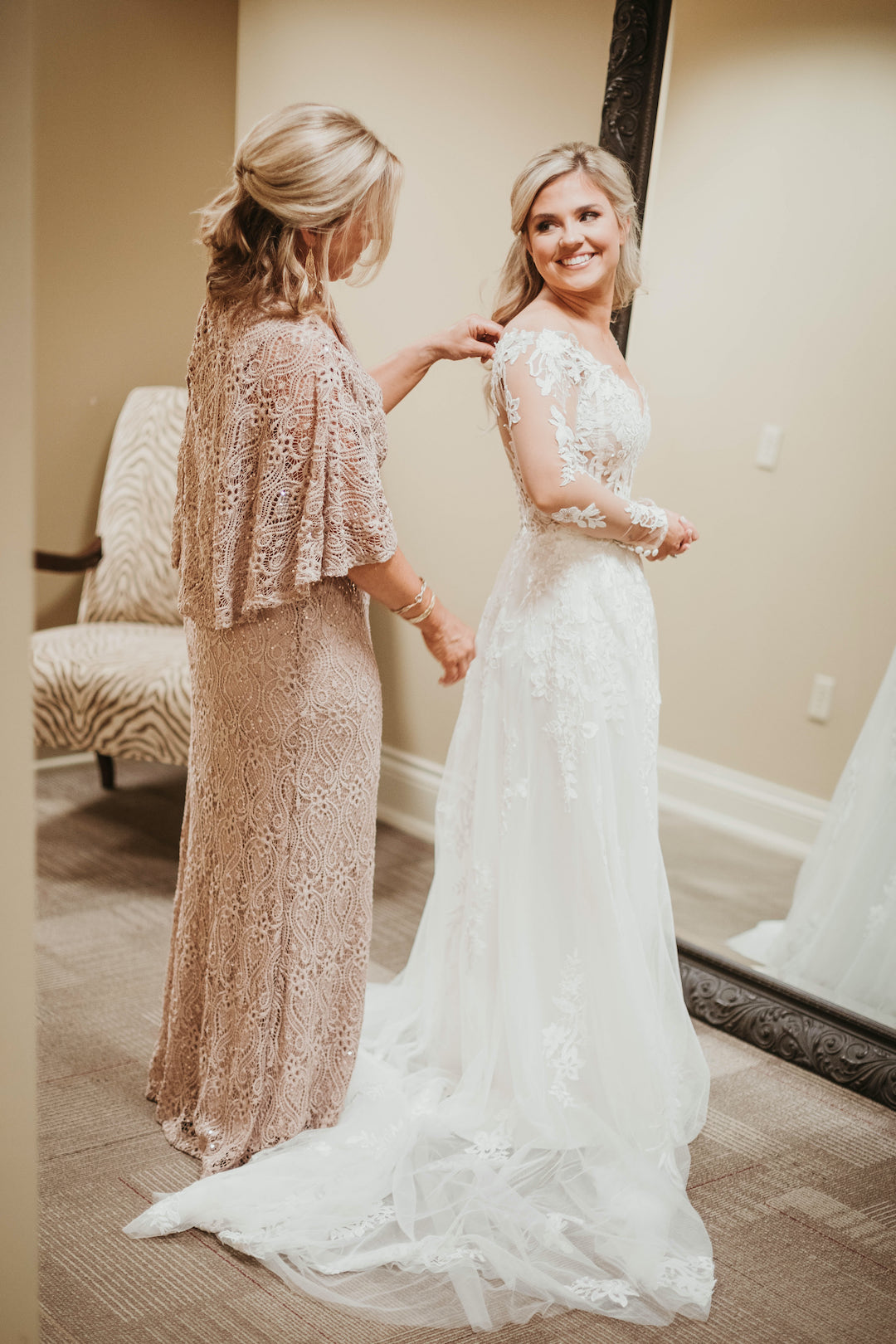 Mother daughter wedding photo: Romantic Country Club Soiree by Juniper Weddings featured on Nashville Bride Guide
