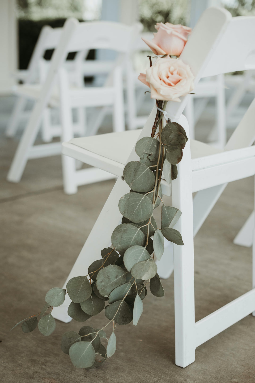 Eucalyptus wedding chair decor: Romantic Country Club Soiree by Juniper Weddings featured on Nashville Bride Guide