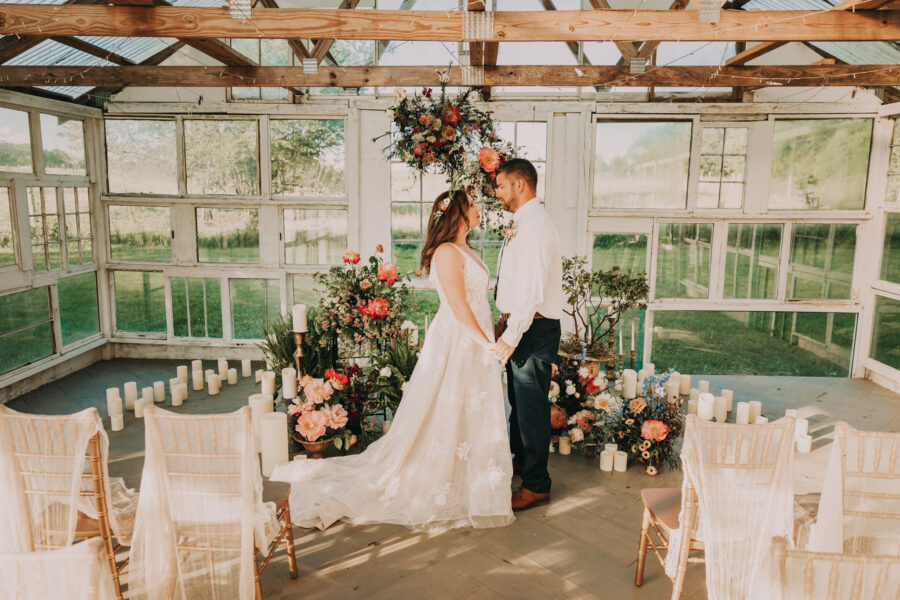 Intimate wedding ceremony ideas: Flower Farm Styled Shoot by Billie-Shaye Style featured on Nashville Bride Guide