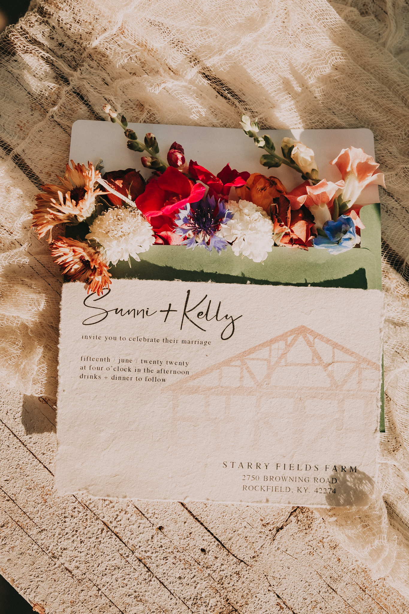 Wedding stationery: Flower Farm Styled Shoot by Billie-Shaye Style featured on Nashville Bride Guide