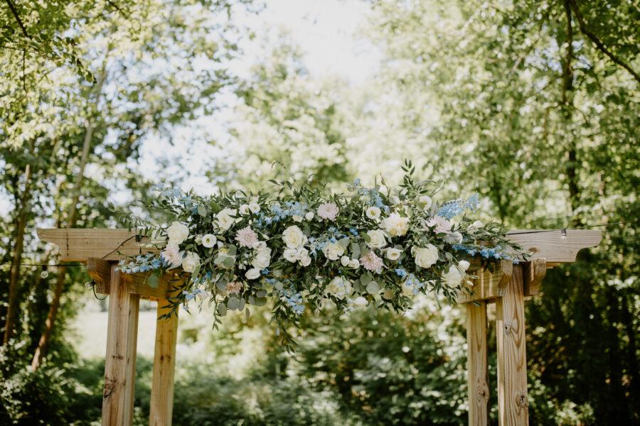Wedding ceremony flowers: Vibrant Summer Wedding at Sinking Creek Farm featured on Nashville Bride Guide