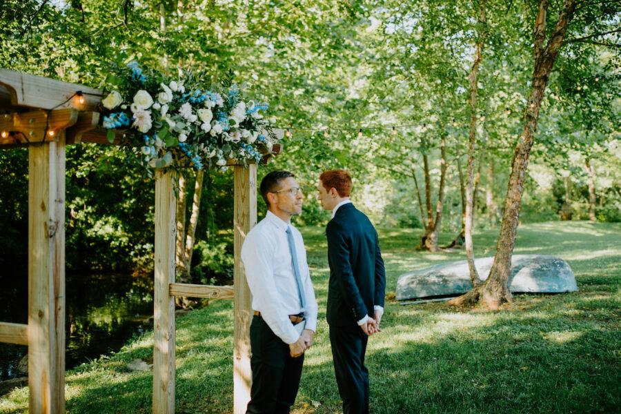 Outdoor wedding ceremony: Vibrant Summer Wedding at Sinking Creek Farm featured on Nashville Bride Guide