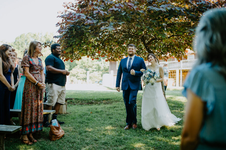 Outdoor wedding: Vibrant Summer Wedding at Sinking Creek Farm featured on Nashville Bride Guide