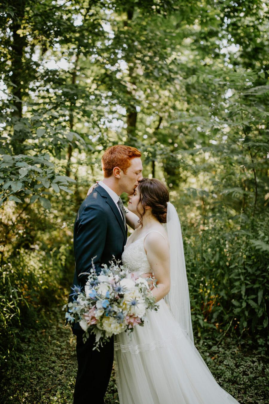 Wedding portrait: Vibrant Summer Wedding at Sinking Creek Farm featured on Nashville Bride Guide
