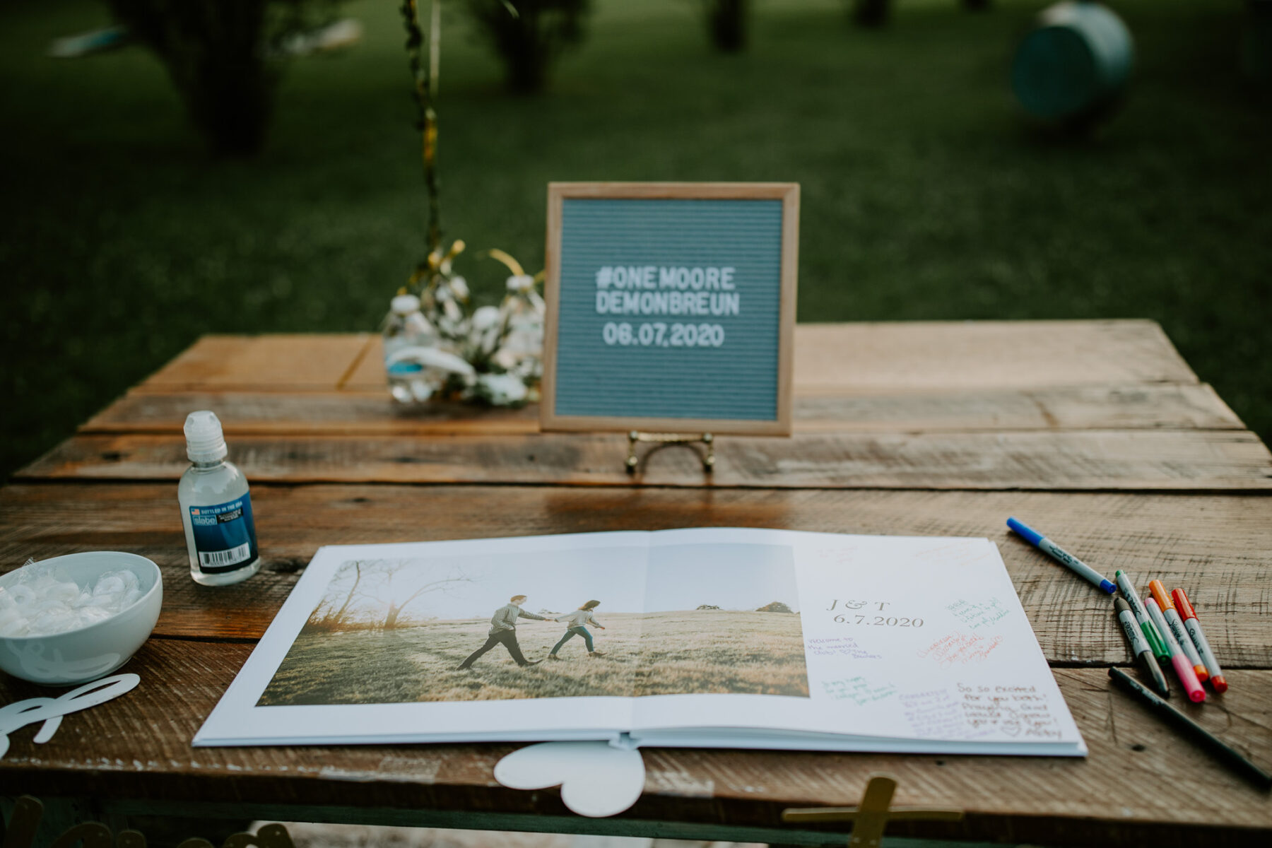 Wedding guest book: Vibrant Summer Wedding at Sinking Creek Farm featured on Nashville Bride Guide