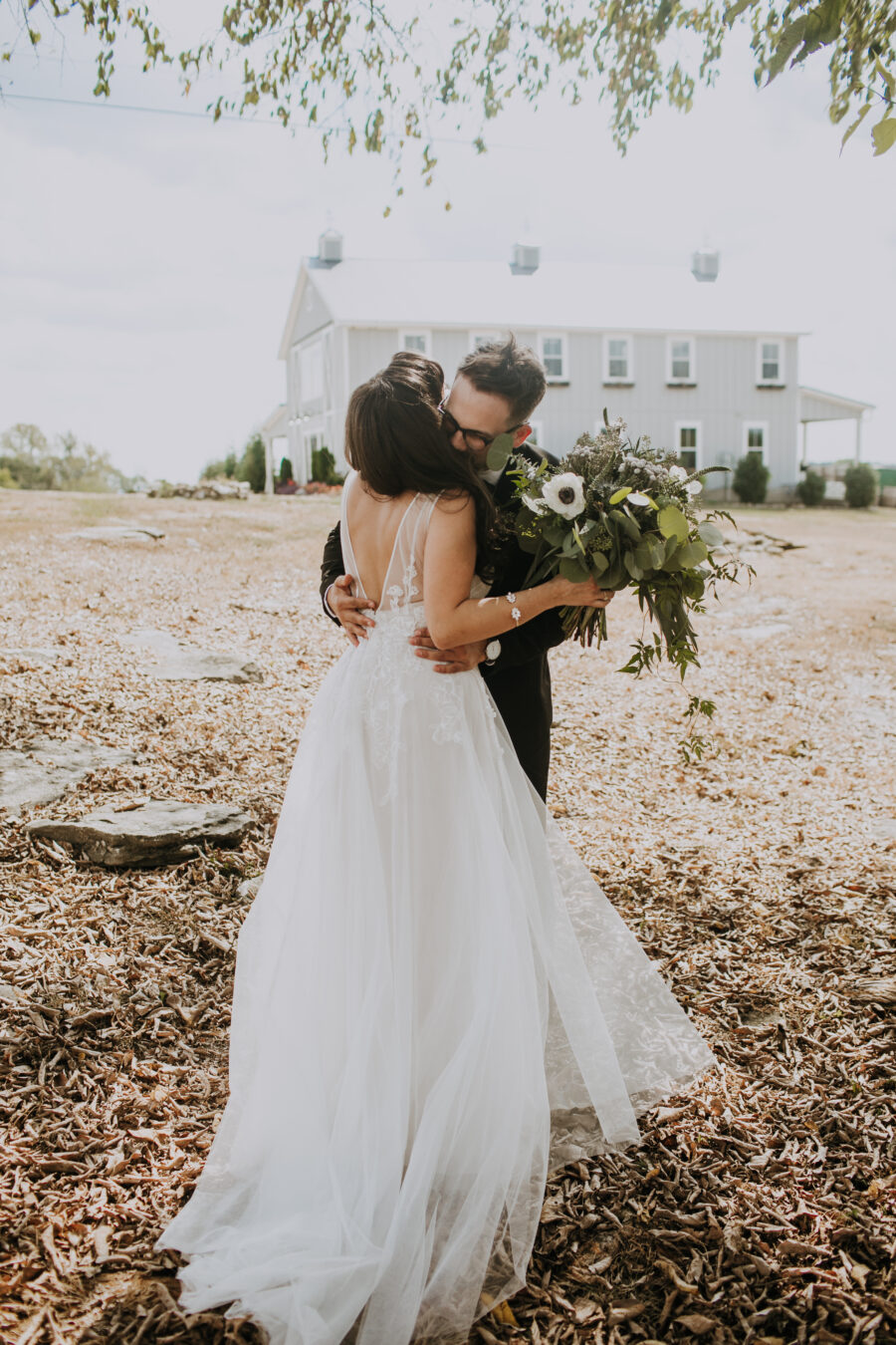 Wedding first look: Nashville Wedding with Beautiful Views by Teale Photography featured on Nashville Bride Guide
