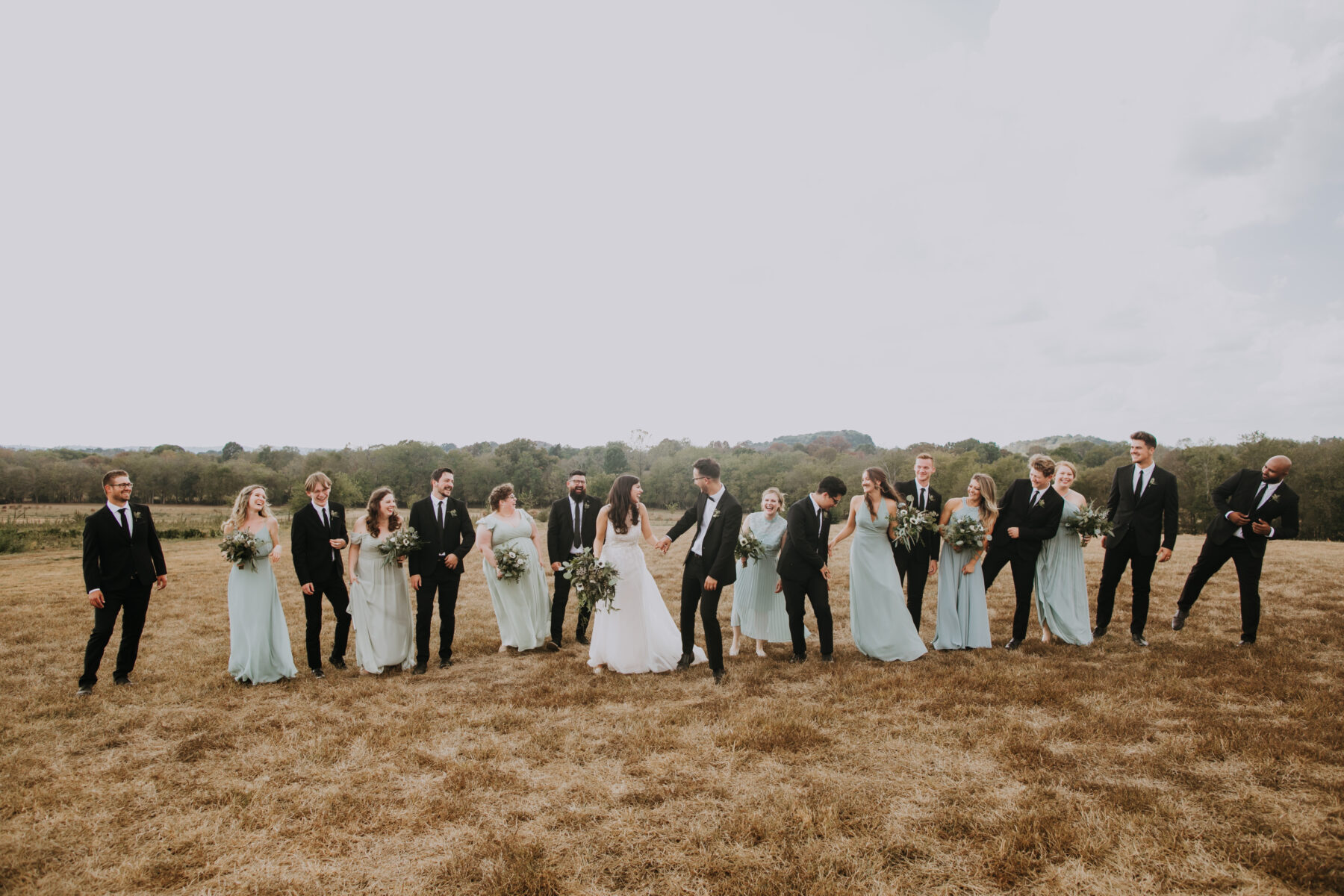 Wedding party photos: Nashville Wedding with Beautiful Views by Teale Photography featured on Nashville Bride Guide