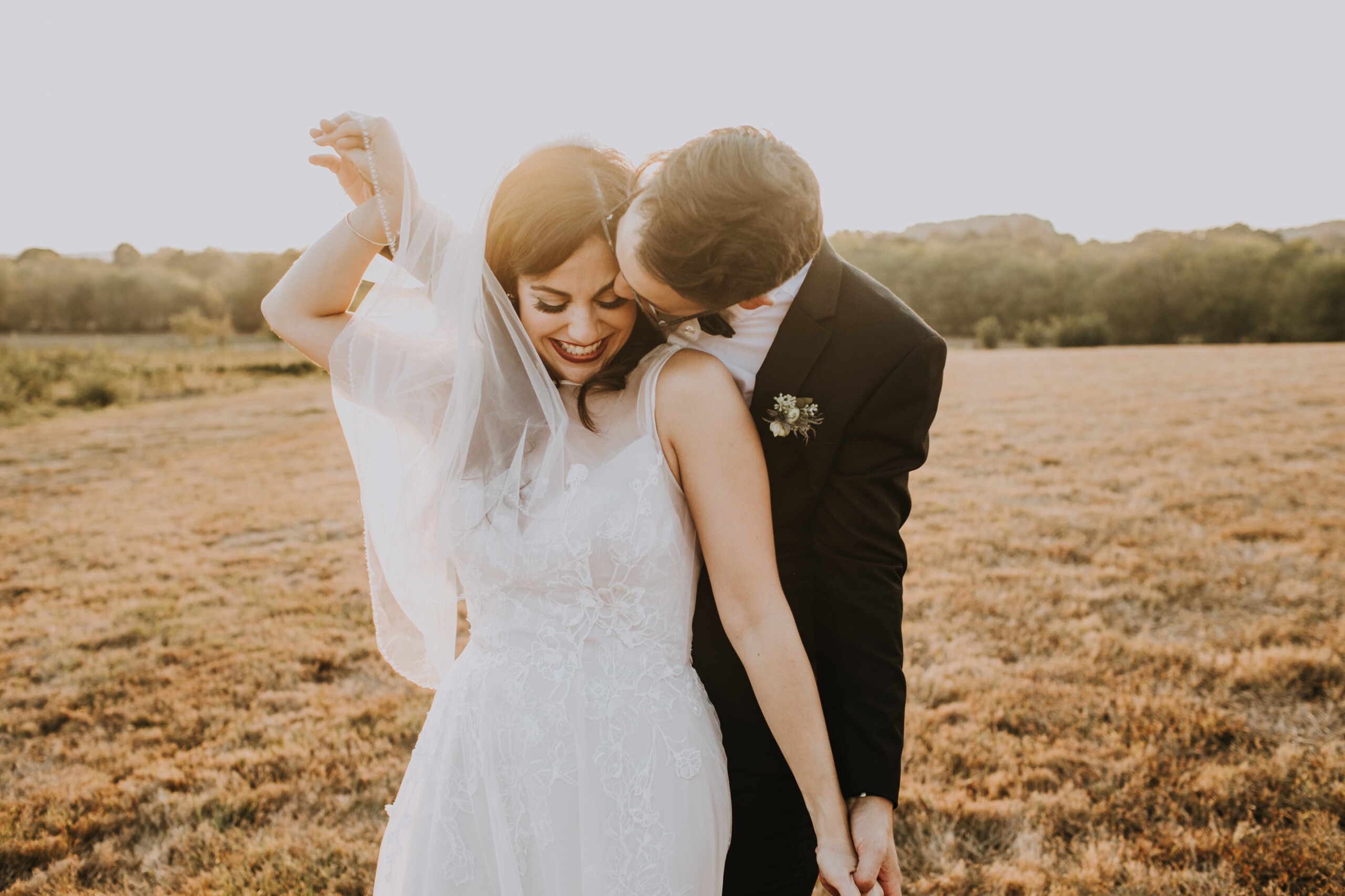 Sunset wedding photo: Nashville Wedding with Beautiful Views by Teale Photography featured on Nashville Bride Guide