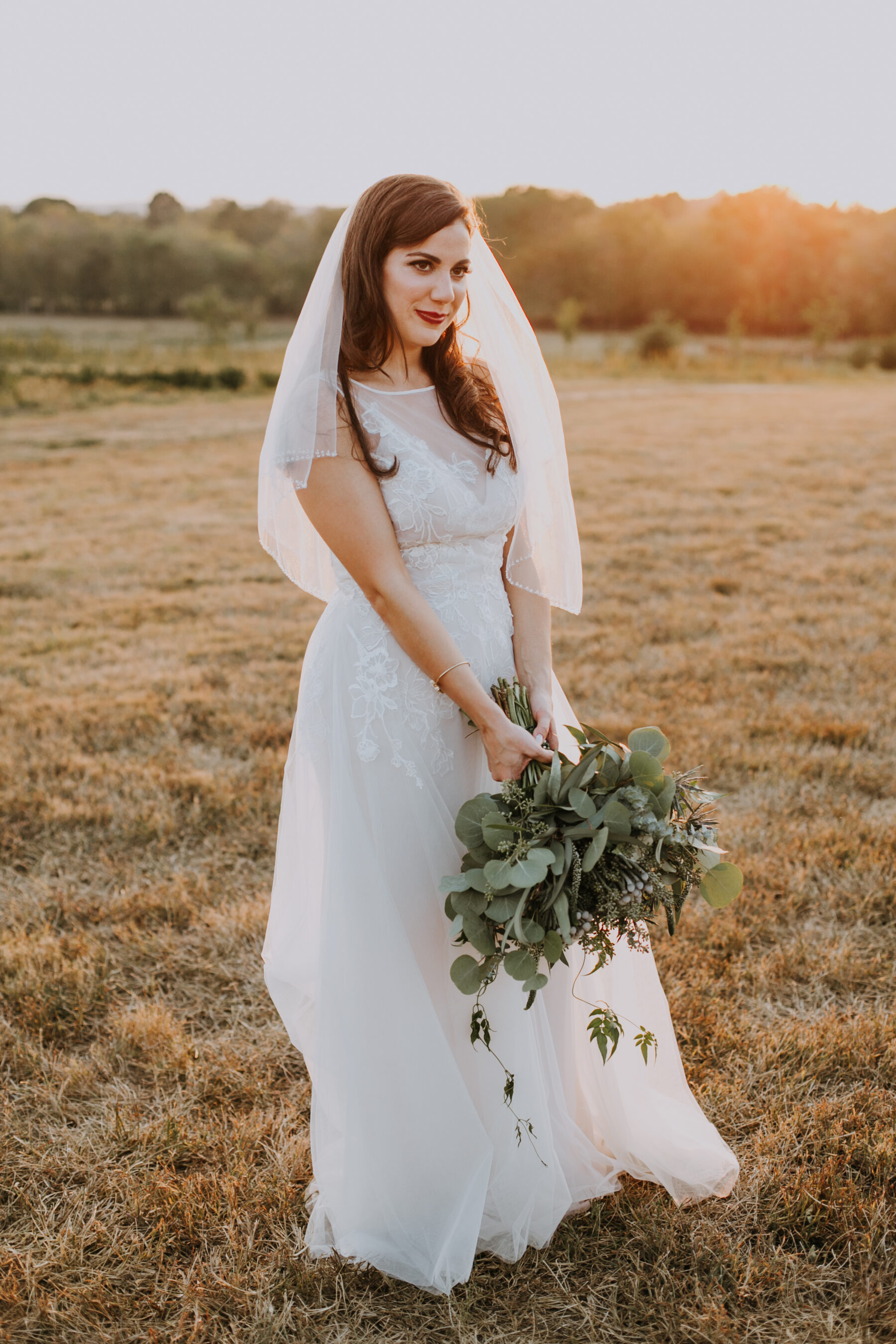 Bridal portrait: Nashville Wedding with Beautiful Views by Teale Photography featured on Nashville Bride Guide