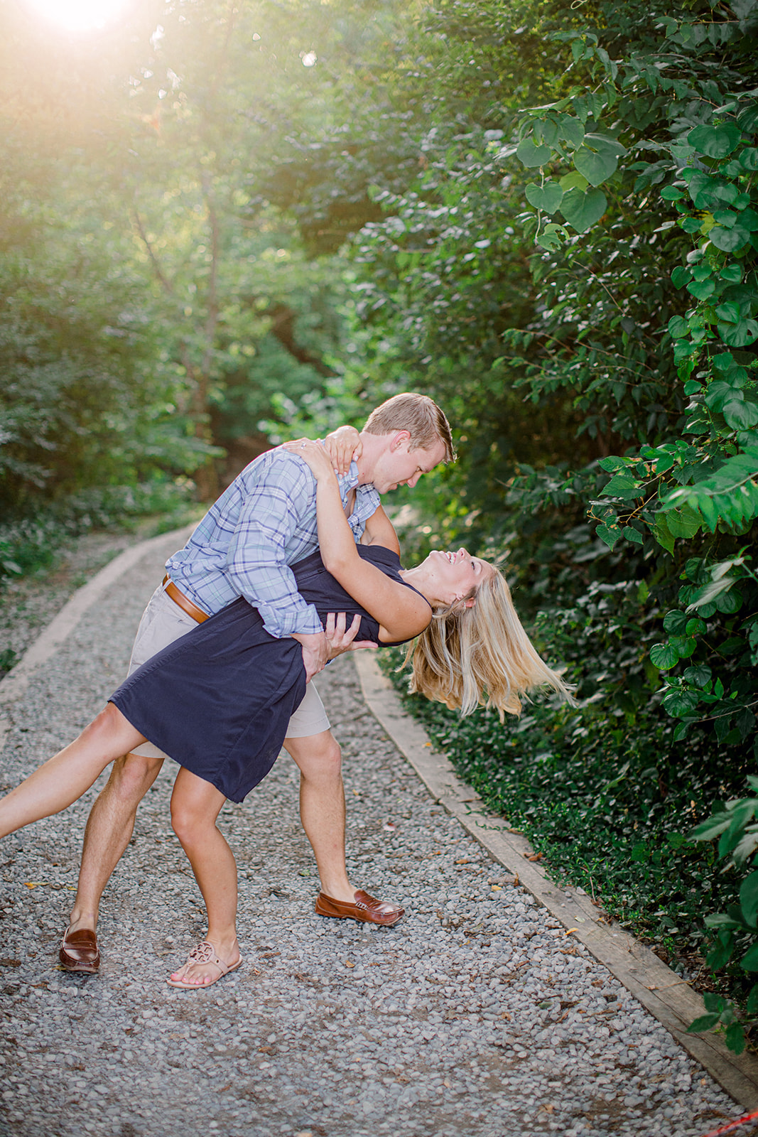 Downtown Franklin Tennessee engagement session by Ashton Brooke Photography featured on Nashville Bride Guide