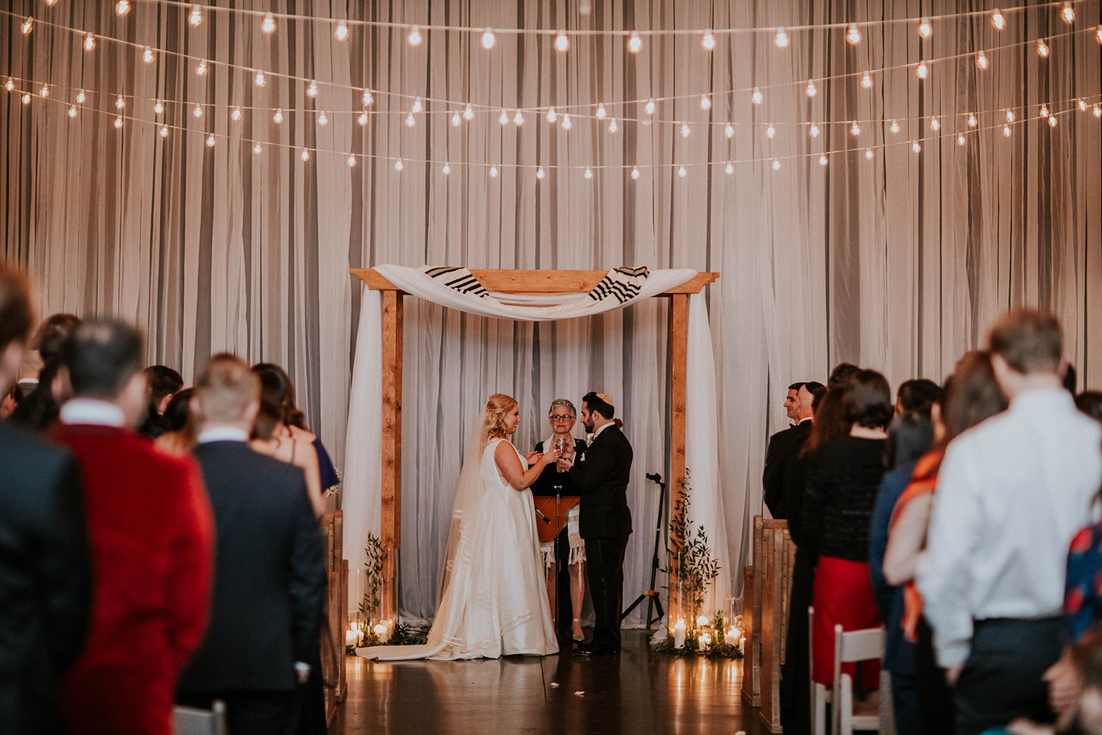Jewish wedding ceremony: Timeless Loveless Barn Winter Wedding by Kendall Parsons featured on Nashville Bride Guide