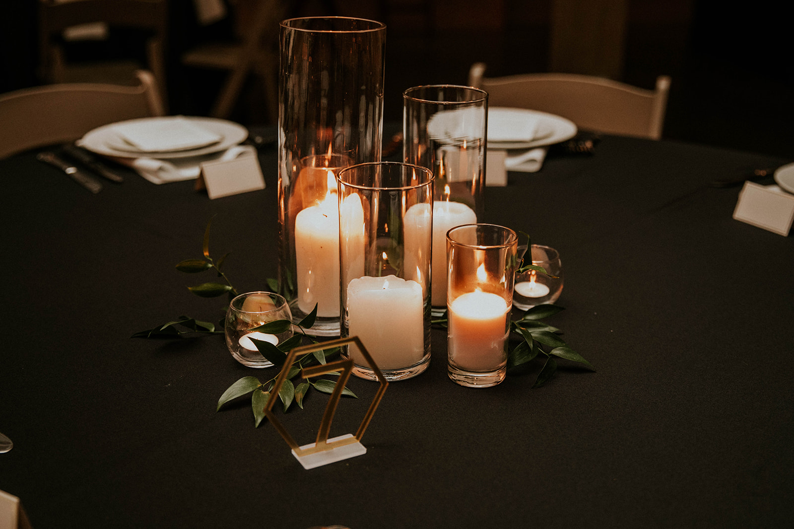 Candle wedding centerpieces: Timeless Loveless Barn Winter Wedding by Kendall Parsons featured on Nashville Bride Guide