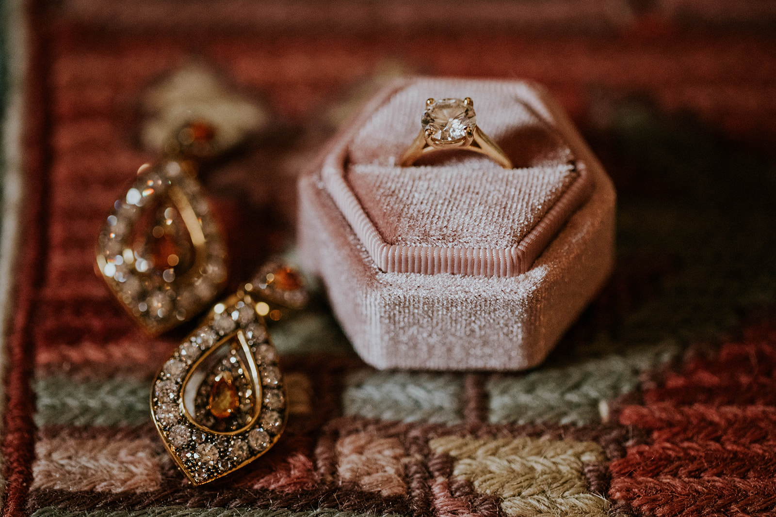 Engagement ring: Timeless Loveless Barn Winter Wedding by Kendall Parsons featured on Nashville Bride Guide