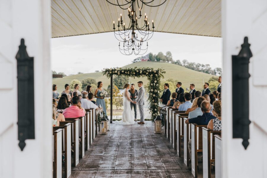 Semi-outdoor ceremony: White Dove Barn Wedding by Grace Upon Grace Photography featured on Nashville Bride Guide