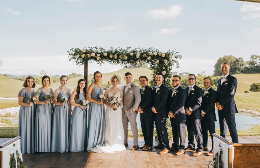 Wedding party photos: White Dove Barn Wedding by Grace Upon Grace Photography featured on Nashville Bride Guide