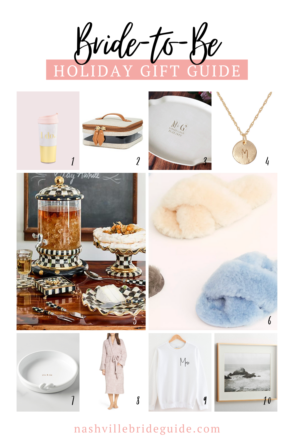 Bride to Be Holiday Gift Guide featured on Nashville Bride Guide