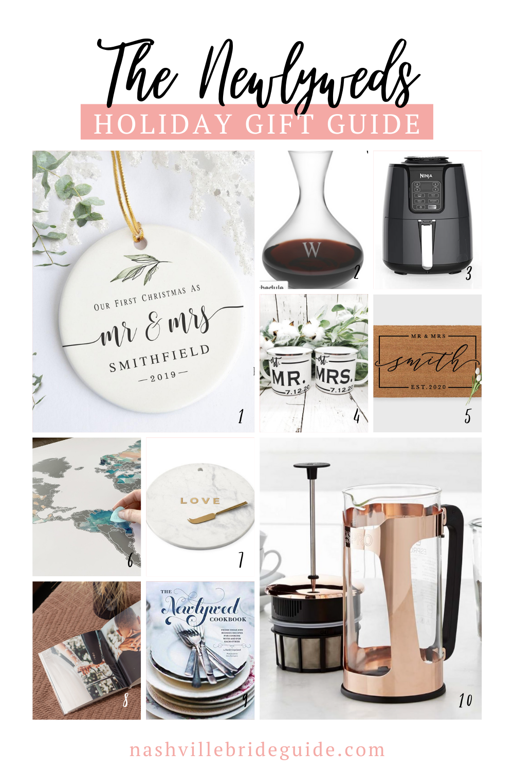 Newlywed Gift Guide featured on Nashville Bride Guide