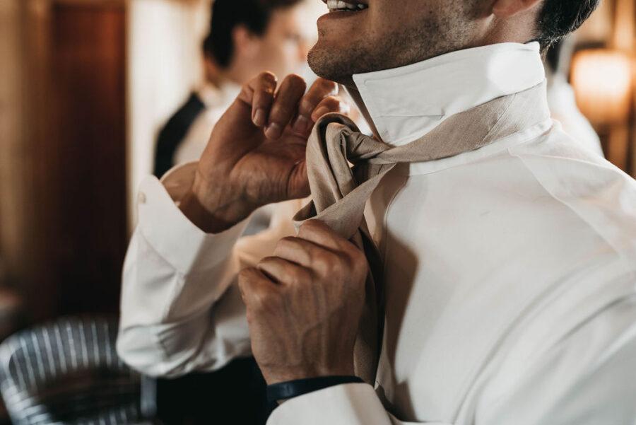 taupe wedding tie