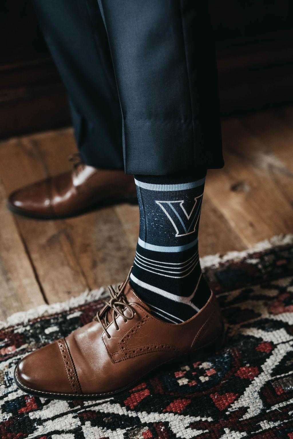 Groom's wedding day socks