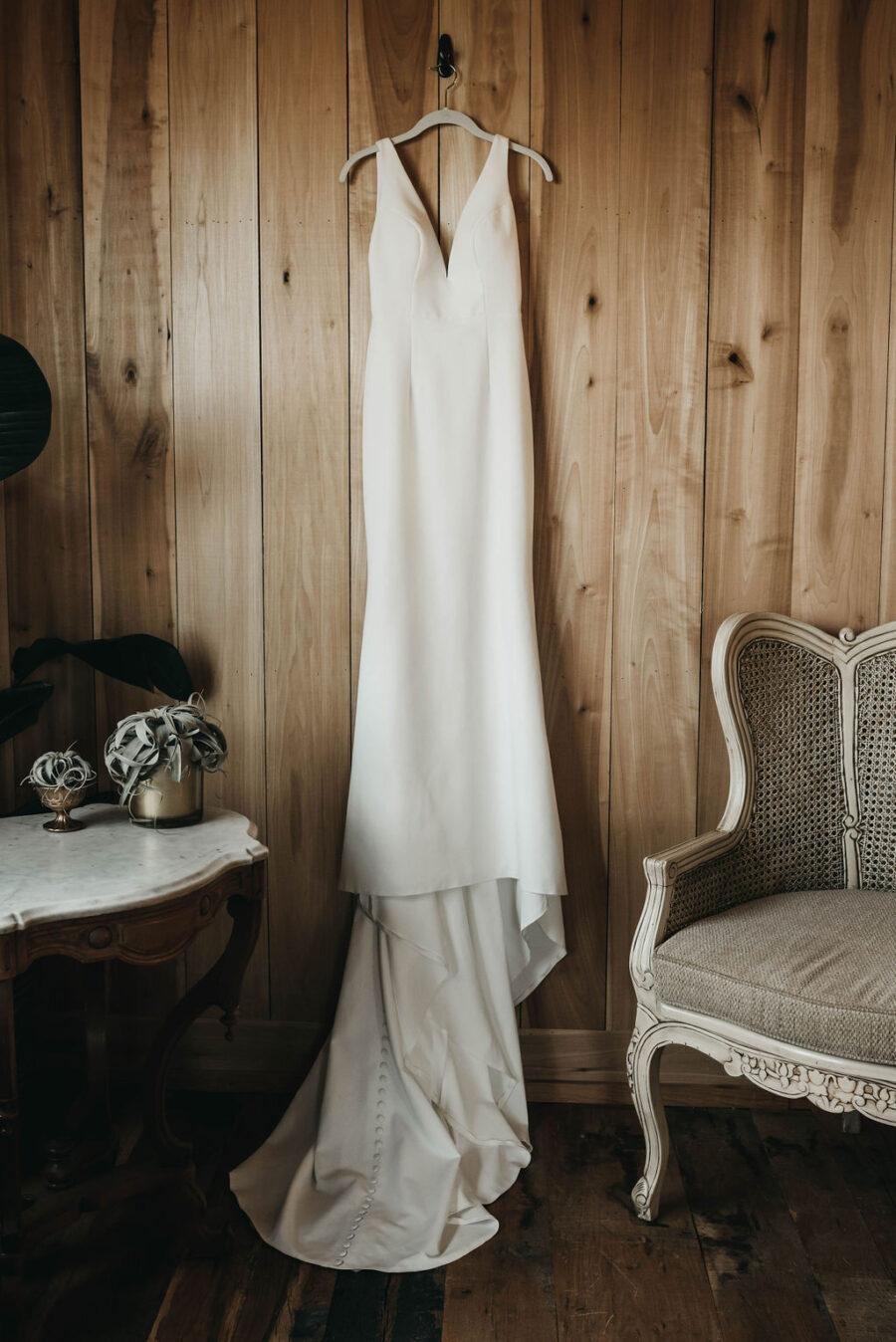 wedding dress portrait at Allenbrooke Farms