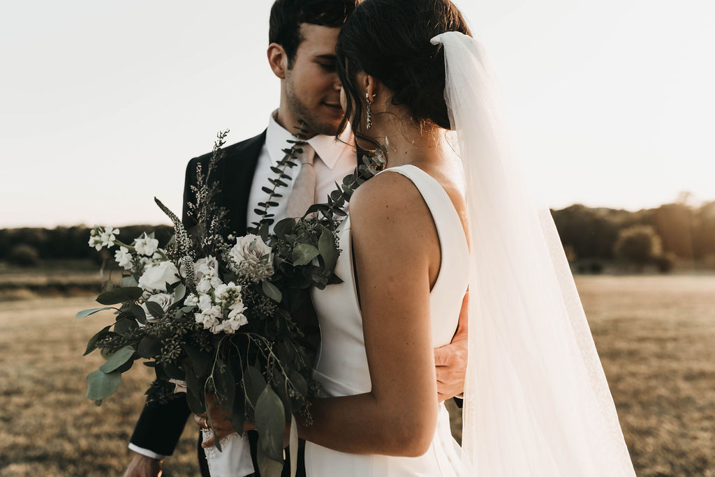 Golden hour wedding portrait by Rafferty Photos