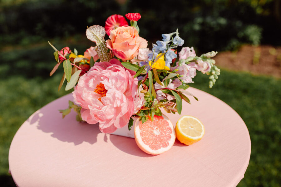 Pink wedding flowers: TWESA's new consumer website launch featured on Nashville Bride Guide